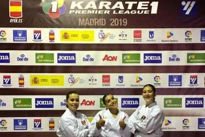 Karate: equipa de kata feminina na final da Karate 1 Madrid